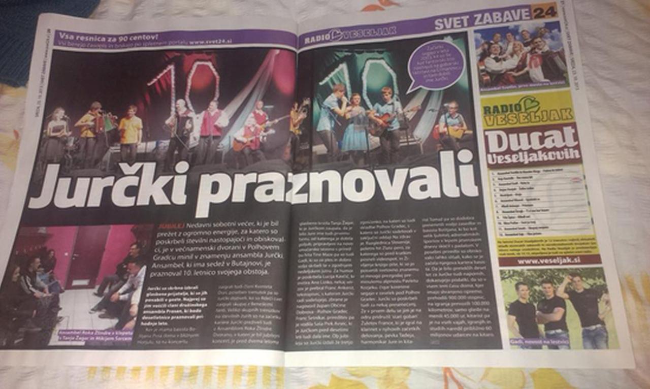 Ansambel Jurčki - Mediji o nas